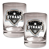 Houston Dynamo 2 pc. Rocks Glass Set