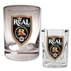 Real Salt Lake Rocks Glass and Square Shot Glass Set