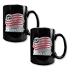 New England Revolution 2 pc. Black Ceramic Mug Set