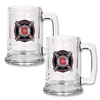 Chicago Fire 2 pc 15 oz Glass Tankard Set