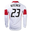 DC United 2014 KITCHEN LS Authentic Secondary Soccer Jersey