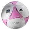 adidas MLS 2013 Glider Soccer Ball (White/Ultra Pink)