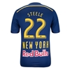 New York Red Bulls 2014 STEELE Authentic Secondary Soccer Jersey