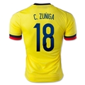 Colombia 2015 C. ZUNIGA Home Soccer Jersey