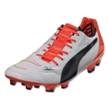 Puma evoPower 1.2 Leather FG (White/Total Eclipse/Lava Blast)
