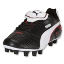 PUMA Esito Finale I FG KIDS Cleats (Black/White/PUMA Red)