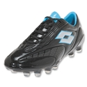 Lotto Fuerzapura L100 FG Soccer Shoes (Black/Silver N)