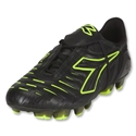 Diadora Maracana RTX 12 Soccer Shoes (Black/Fluo Yellow)