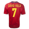 Spain 11/13 DAVID VILLA Home Soccer Jersey