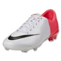Nike Junior Mercurial Vapor VIII FG (White/Black/Solar Red)