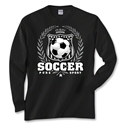 Soccer Laurel Long Sleeve T-Shirt (Black)