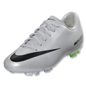 Nike Mercurial Victory IV FG Junior (Metallic Platinum/Electric Green)