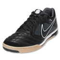 Nike5 Gato Leather Indoor Soccer Shoes (Black/Black/White/Dark Shadow)