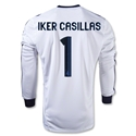 Real Madrid 12/13 IKER CASILLAS LS Home Soccer Jersey