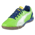 PUMA evoSPEED 5 IT KIDS Indoor Shoes (Jasmine Green/White/Monaco Blue/Fluo Yellow)