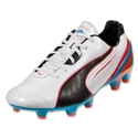 PUMA King SL FG (Metallic White/Black)