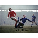 Icons Ron Harris Signed Chelsea's Chopper Tackles George Best Print