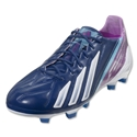 adidas F50 adizero TRX FG miCoach compatible Leather (Dark Blue/Running White)