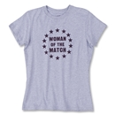 Woman of the Match Soccer T-Shirt (Gray)