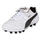 PUMA King Top K di FG Cleats (White/Black/Team Gold)