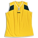 Xara Women's Preston Sleeveless Soccer Jersey (Yl/Bk)