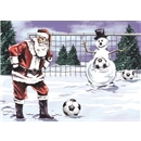 Holiday Cards-Santa and Snowman