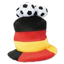 Germany 3 Soccer Ball Plush Hat