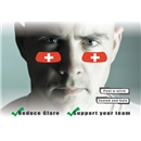 Switzerland Flag Eyeblacks 4 Pair