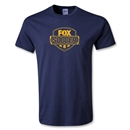 Fox Soccer Distressed Yellow Logo Youth T-Shirt (Navy)