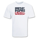 USA They Inspire Us T-Shirt (White)