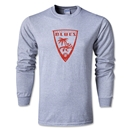 Orange County Blues Soccer LS T-Shirt (Grey)