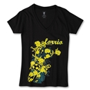 Rose Soccer T-Shirt (Blk/Yellow)
