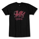 Welsh Dragon Soccer T-Shirt (Black)