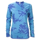 UA Women's Bio Print Reversible Training Top (Sky)