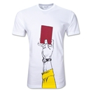 Red Card Soccer T-Shirt (White)
