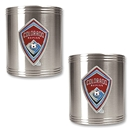 Colorado Rapids 2 pc Stainless Steel Can Holder Set