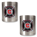 Chicago Fire 2 pc Stainless Steel Can Holder Set