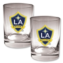 LA Galaxy 2 pc. Rocks Glass Set