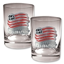 New England Revolution 2 pc. Rocks Glass Set