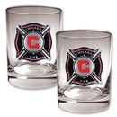 Chicago Fire 2 pc. Rocks Glass Set