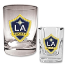LA Galaxy Rocks Glass and Square Shot Glass Set
