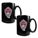 Colorado Rapids 2 pc. Black Ceramic Mug Set