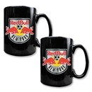 NY Red Bulls Two Piece Black Ceramic Mug Set