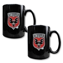 D.C. United 2 pc. Black Ceramic Mug Set