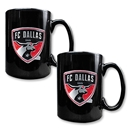 FC Dallas 2 pc. Black Ceramic Mug Set