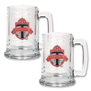 Toronto FC Two Piece 15 oz. Glass Tankard Set