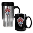 Colorado Rapids Stainless Steel Travel Mug and Black Ceramic Mug