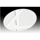 Kwik Goal White Flat Oval Markers 12 Pack (White)