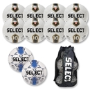Select Numero 10 Soccer Ball Package (White/Black/Gold Stripe)