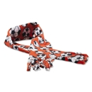 Soccer Ball Fleece Scarf (Orange)